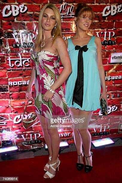 Models Christina Lindley and Esseri attends Chris Brown's Off The Wall 18th birthday party held at 40/40 club on May 6 2007 in New York City