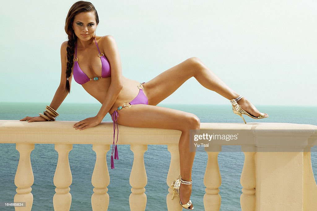 Models Christine Teigen and Valerie Van Der Graa are photographed for Beach Bunny on June 11, 2012 in Los Angeles, California. PUBLISHED
