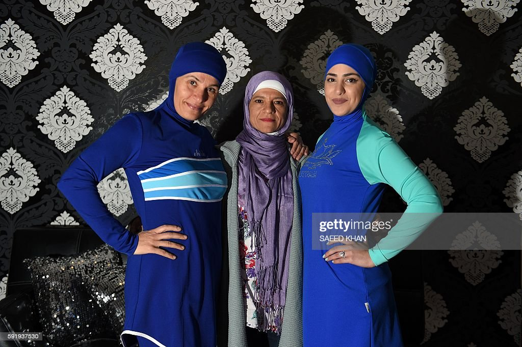 OLY-2016-SWIM-AUS-Australia-France-Islam-clothing-Muslim-lifesty : News Photo