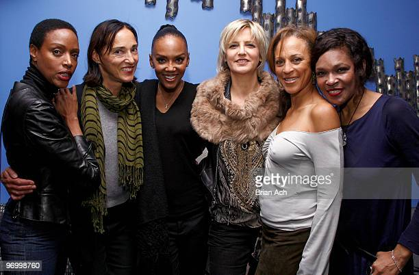 Models Coco Mitchell, Dovanna Pagowski, Mariana Verkerk, Alva Chin, and Maria McDonald attend the Models From The 80's Reunion at Bongo on November...