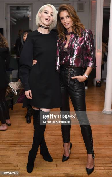 Models Coco Rocha and Cindy Crawford attend Marc Jacobs Beauty Celebrates Kaia Gerber on February 15 2017 in New York City
