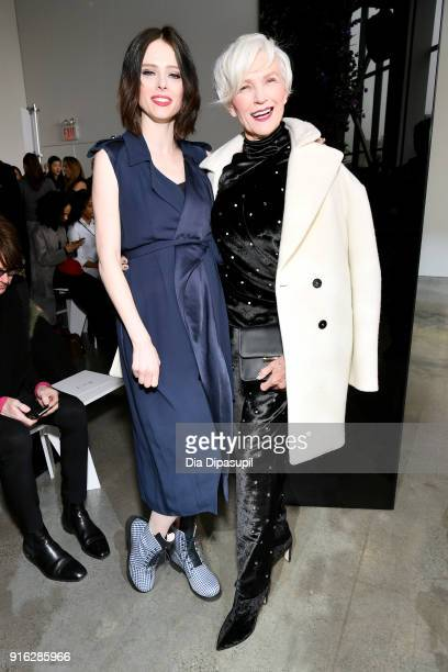 Models Coco Rocha and Maye Musk attend the Jason Wu front row during New York Fashion Week The Shows at Gallery I at Spring Studios on February 9...