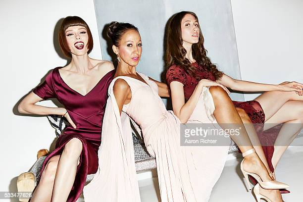 Models Coco Rocha Pat Cleveland and Anna Cleveland are photographed for Glamour Magazine in 2014 in New York City PUBLISHED IMAGE