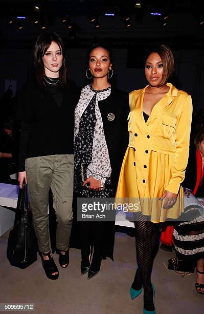 Models Coco Rocha Selita Ebanks and Journalist Alicia Quarles attend the Marissa Webb Fall 2016 fashion show during New York Fashion Week The Shows...