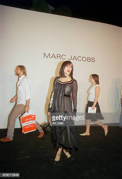 Models coming out of a Marc Jacobs show circa 1990 New York