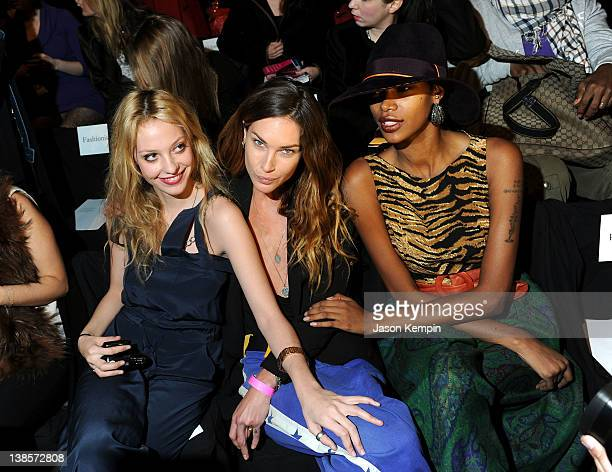 Models Cory Kennedy Erin Wasson and Jessica White attend the BCBG Max Azria Fall 2012 fashion show during MercedesBenz Fashion at The Theatre at...