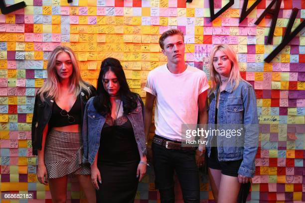 Models Daisy Smith Starlie Smith Lucky Blue Smith and Pyper Smith attend HM Loves Coachella Tent during day 1 of the Coachella Valley Music Arts...