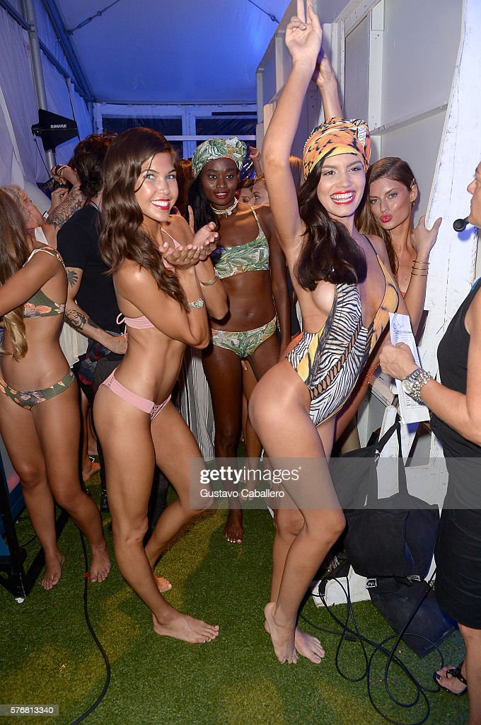 FL: San Lorenzo Bikinis 2017 Collections at SwimMiami - Front Row