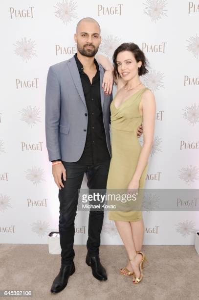 Models Darrin Charles and Alizee Gaillard with Piaget at the 2017 Film Independent Spirit Awards at Santa Monica Pier on February 25 2017 in Santa...