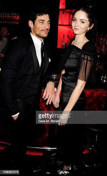 Models David Gandy and Lily Cole celebrate at The Weinstein Company and Momentum Pictures' postBAFTA party held at W LondonLeicester Square on...