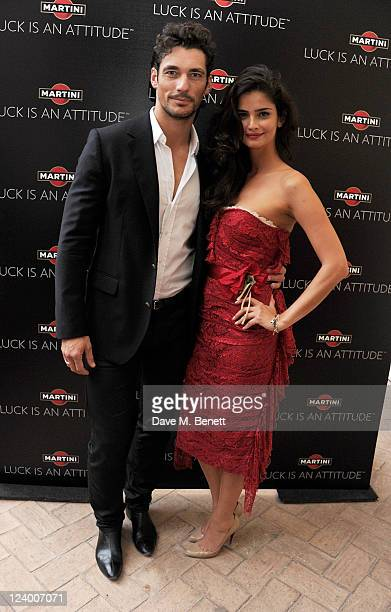 Models David Gandy and Shermine Shahrivar join MARTINI in a party to celebrate the global launch campaign LUCK IS AN ATTITUDE at The Villa on...