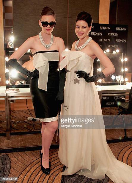 Models Demelza Reveley and Tahnee Atkinson are madeup to look like screen star Audrey Hepburn to celebrate Hepburn's 80th birthday this year and...