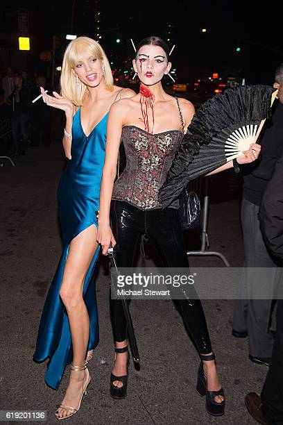 Models Devon Windsor and Georgia Fowler attend Night of the Fallen at Marquee on October 29 2016 in New York City