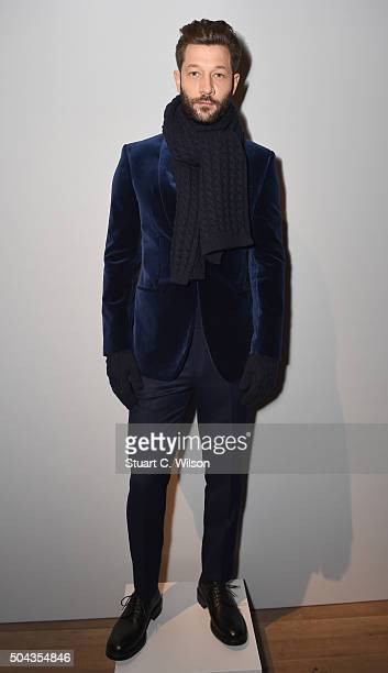 Models display the new collection at the Gieves Hawkes presentation during The London Collections Men AW16 at on January 10 2016 in London England