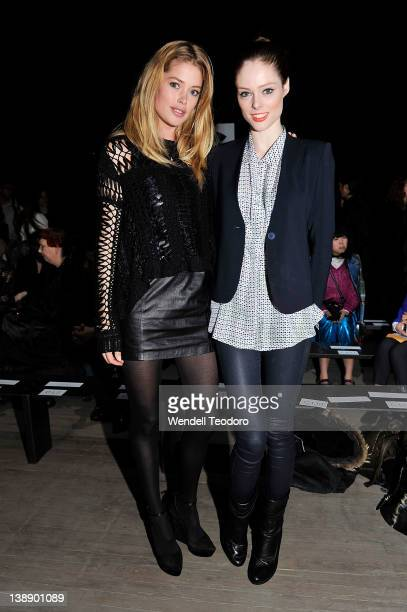 Models Doutzen Kroes and Coco Rocha attends the Theyskens' Theory Fall 2012 fashion show during Mercedes-Benz Fashion Week on February 13, 2012 in...