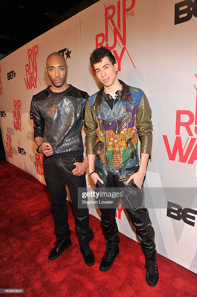 Models Dre King and Cole Cook attend BET's Rip The Runway 2013:Red Carpet at Hammerstein Ballroom on February 27, 2013 in New York City.