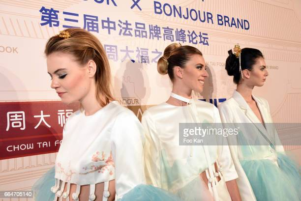 Models dressed by ESMOD stylists and bearing Chow Tai Fook jewellery walk the runway during the Chow Tai Fook Jewellry Show Hosted by Bonjour Brand...
