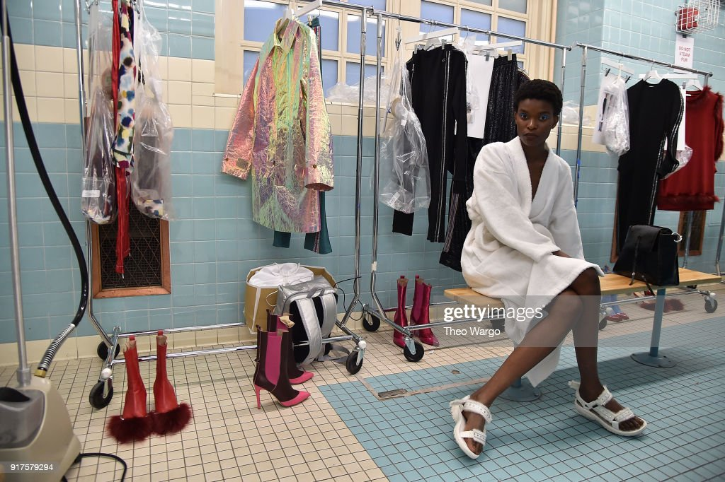 Models during Area - Presentation - at Seward Park High School on February 12, 2018 in New York City.