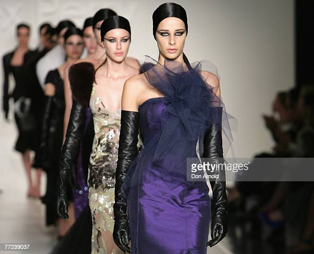 Models during the Alex Perry show at Australian Fashion Week's Transeasonal 2008 Collections October 9, 2007 at the Overseas Passenger Terminal in...