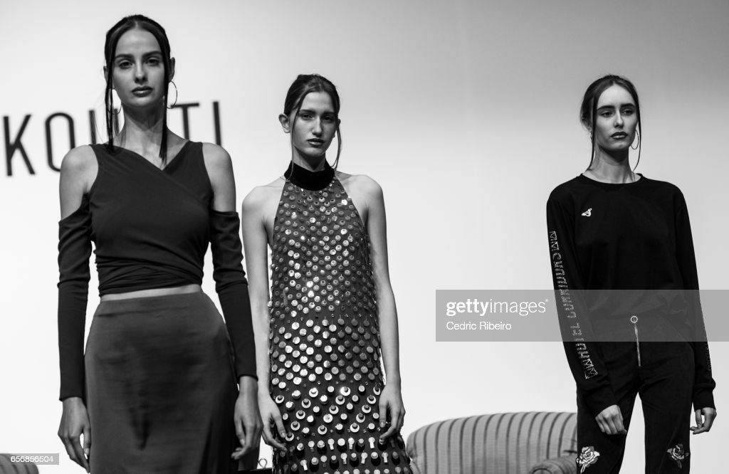 Models during the Nafsika Skourti Presented by EPICxSamsung presentation at Fashion Forward March 2017 held at the Dubai Design District on March 23, 2017 in Dubai, United Arab Emirates.