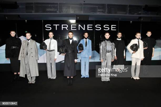 Models during the Strenesse presentation during 'Der Berliner Salon' AW 18/19 at The Gate on January 16 2018 in Berlin Germany