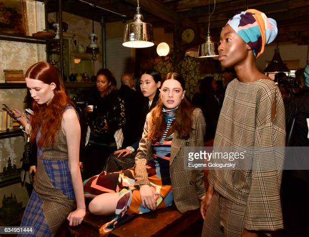 Models during the Tracy Reese Presentation during New York Fashion Week on February 12 2017 in New York City