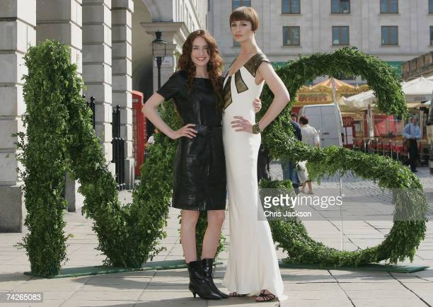 Models Elizabeth Jagger and Erin O'Connor pose for a photograph as they take part in the Marks and Spencer Autumn/winter 2007 photocall in Covent...
