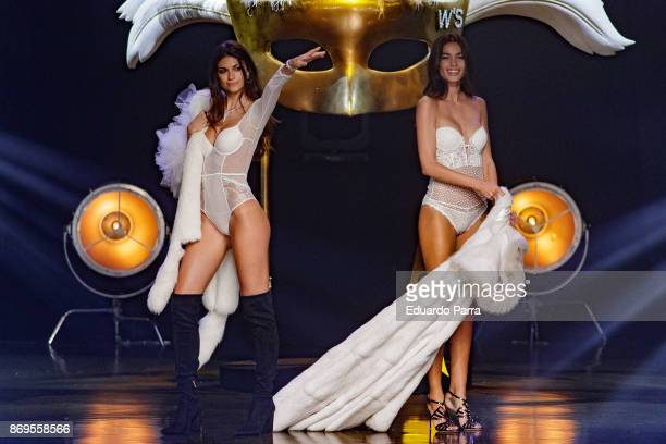 Models Estela Grande and Linda Morselli walk the runaway during the 'Wanted' By Women'Secret' campaign presentation at La Riviera disco on November 2...