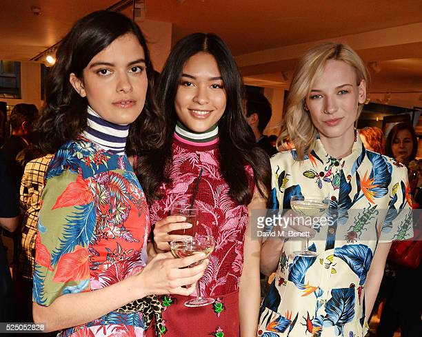Models Evangeline Ling Sian Garnett and Niamh Gray attend the launch of House of Holland's first interior collection with Habitat at Habitat...