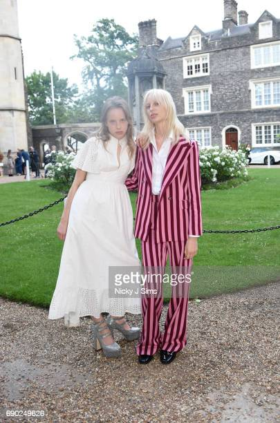 Models Fern Bain Smith and Lili Sumner attend ALEXACHUNG London Launch and Collection Reveal on May 30 2017 in London England