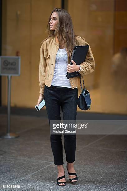 Models Fernanda Liz attends the 2016 Victoria's Secret Fashion Show castings on October 21 2016 in New York City