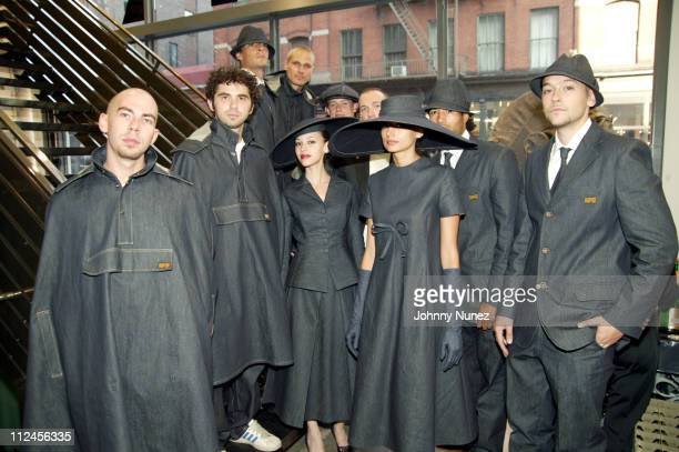 Models for Gstar during Gstar First Flagship Boutique Store Opening at 270 Lafayette Street At Prince in New York City New York United States
