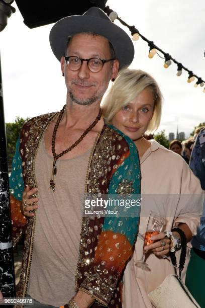 Models Geoffroy Gillieaux and Inguna Butane attend 'Ibiza Boheme' Launch Party by BHV Le Marais on June 7 2018 in Paris France