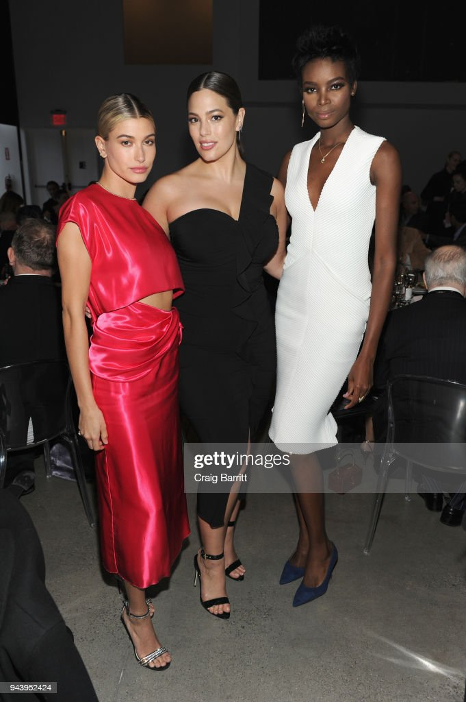 Models Hailey Rhode Baldwin, Ashley Graham and Maria Borges attend the International Center Of Photography's 2018 Infinity Awards on April 9, 2018 in New York City.