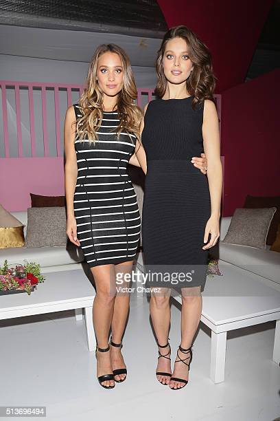 Models Hannah Davis and Emily DiDonato attend the Liverpool Fashion Fest Spring/Summer 2016 at Televisa San Angel on March 3 2016 in Mexico City...