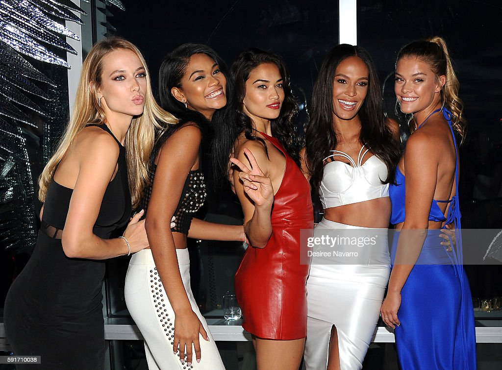 Models Hannah Ferguson, Chanel Iman, Shanina Shaik, Joan Smalls and Nina Agdal attend W Hotels party to celebrate the opening of W Dubai at The Glasshouses on August 17, 2016 in New York City.