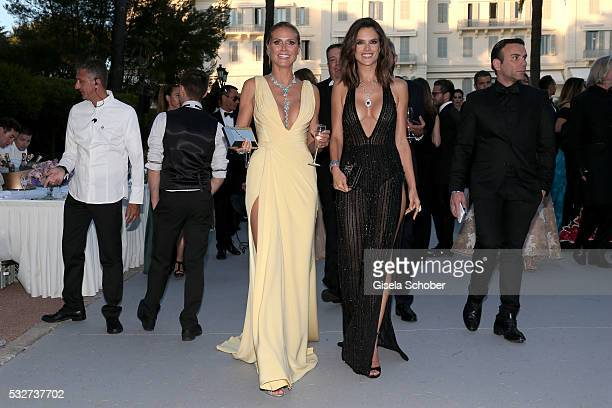 Models Heidi Klum and Alessandra Ambrosio attends the amfAR's 23rd Cinema Against AIDS Gala at Hotel du CapEdenRoc on May 19 2016 in Cap d'Antibes...