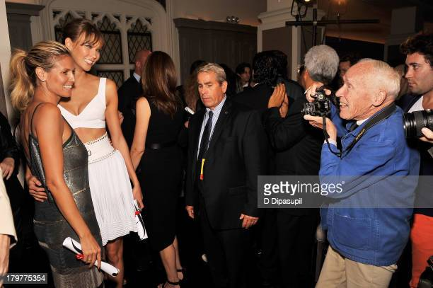 Models Heidi Klum and Karlie Kloss are photographed by Bill Cunningham at The Daily Front Row's Fashion Media Awards at Harlow on September 6, 2013...