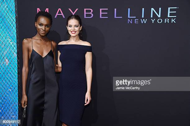 Models Herieth Paul and Emily DiDonato attend the Maybelline New York NYFW KickOff Party on September 8 2016 in New York City