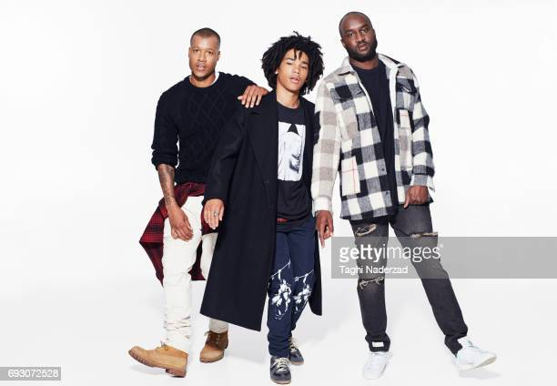 Models Heron Preston Luka Sabbat and OffWhite designer Virgil Abloh are photographed for GQ Magazine on June 10 2015 in New York City PUBLISHED IMAGE