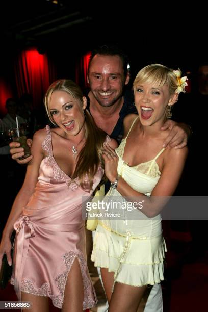 Models Imogen Bailey Bessie Bardot with Bessie husband Geoff Barker attend a private party organised to introduce the new Virgin Atlantic airline...