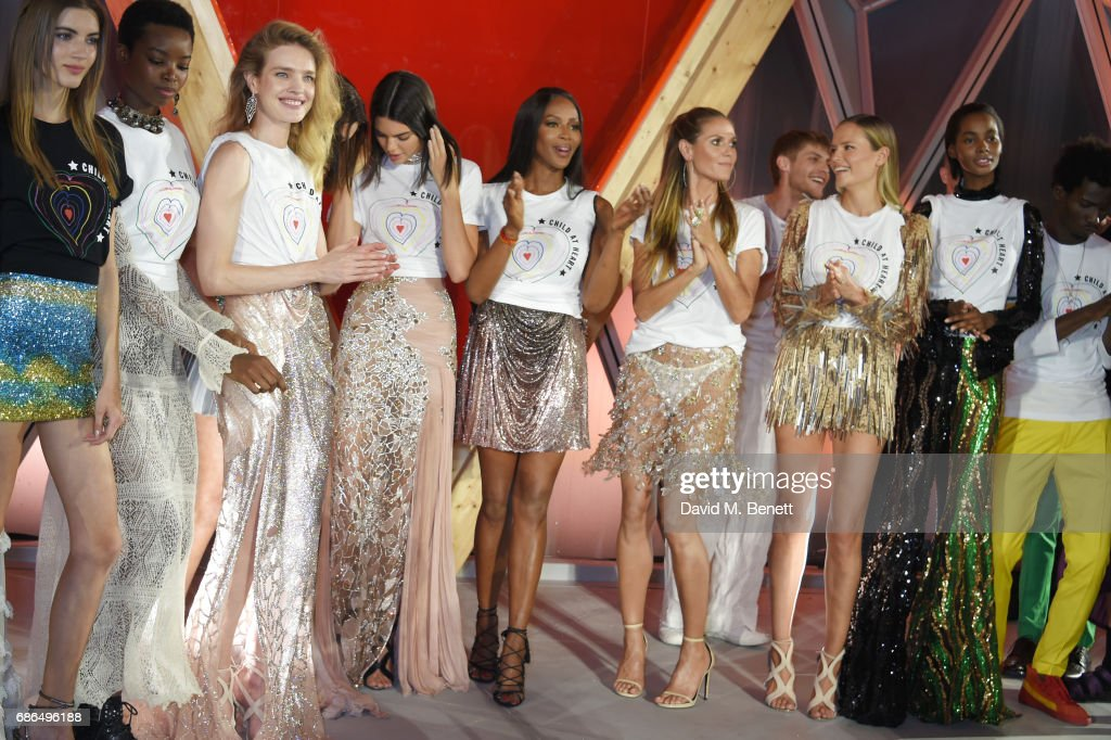 Models including Natalia Vodianova, Kendall Jenner, Naomi Campbell, Heidi Klum and Natasha Poly the Fashion for Relief event during the 70th annual Cannes Film Festival at Aeroport Cannes Mandelieu on May 21, 2017 in Cannes, France.