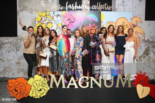 Models influenecers and designers pose inside Chi Town restaurant on February 5 2018 in Sydney Australia