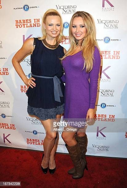Models Irina Voronina and Tiffany Toth arrive for the 5th Annual Babes In Toyland Charity Toy Drive to benefit Los Angeles County Sheriff's...