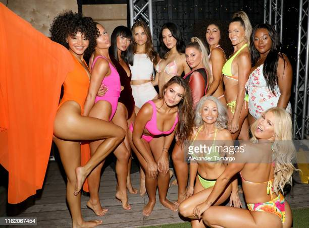 Models Jamea Byrd Miki Hamano Robin Holzken Hyunjoo Hwang Ashley Alexiss Soraya Id Katina Taylor Brielle Anyea Brooks Nader and Kathy Jacobs attend...