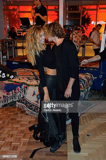 Models Jay Alvarrez and Alexis Ren attend the Pull Bear biggest Store opening on December 3 2015 in Madrid Spain