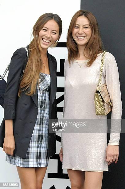 Models Jessica Michibata and Karen Michibata attend Chanel PretaPorter AutomneHiver 2009/10 at Yoyogi national Gymnasium on June 16 2009 in Tokyo...