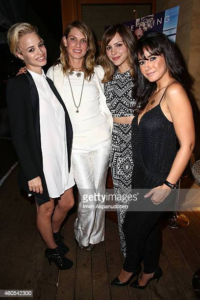 Models Jessica Roffey and Angela Lindvall singer/actress Katharine McPhee and actress Emmanuelle Chriqui attend the Haute Living and Dom Perignon...