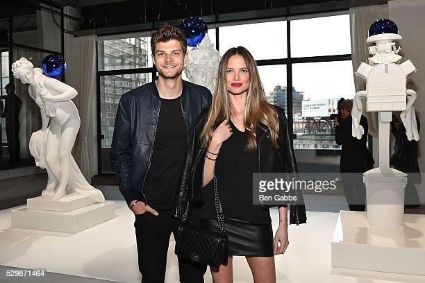 Models Jim Chapman and Alicia Rountree attend the Jeff Koons x Google launch on May 09 2016 in New York New York