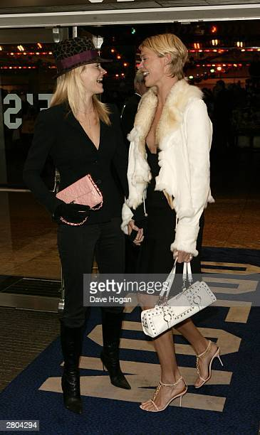Models Jodi and Gemma Kidd arrive at the UK premiere of 'Lord of the Rings The Return of the King' at the Odeon Leicester Square on December 11 2003...